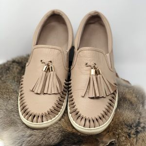 Anthropologie J Slides Beige Slip Ons